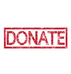 Stamp text donate vector