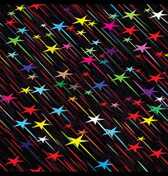 Star rain seamless background vector image