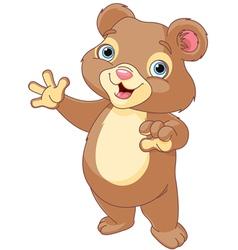 teddy bear presenting vector image