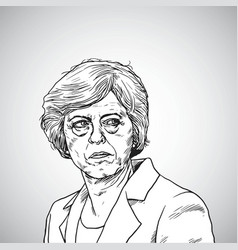 Theresa may portrait drawing vector