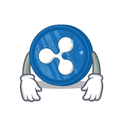 Tired ripple coin character cartoon vector