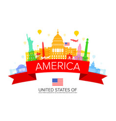 usa travel landmarks vector image