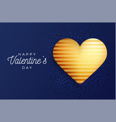 valentine day flyer classic blue background vector image