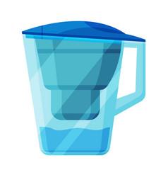 Water filter jug special modern technologies vector