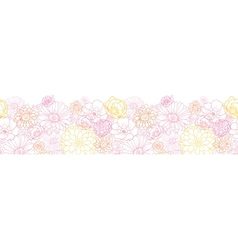 wedding bouquet flowers horizontal seamless vector image