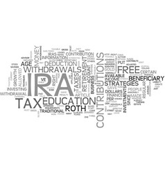 which ira is best for you text word cloud concept vector image