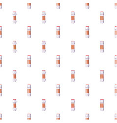White plastic bottle of cleaning detergent pattern vector