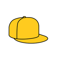 Yellow rap cap icon vector