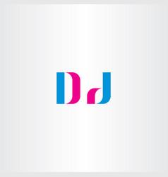 d letter logo sign element symbol vector image