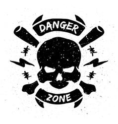 Danger zone emblem in grunge style vector image vector image