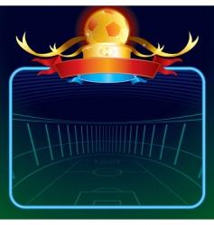 footballs poster vector image vector image