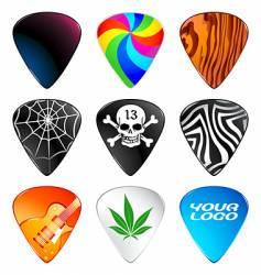 guitar picks vector image vector image