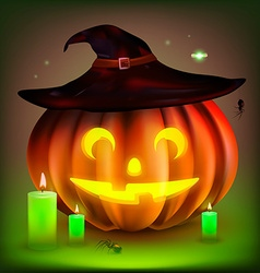 Happy Halloween Pumpkin vector image vector image