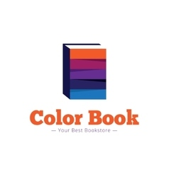paper style bookstore logo Multicolor flat vector image
