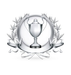 Silver Emblem vector image vector image