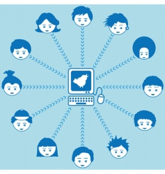 social networking vector image vector image