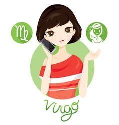 Woman With Virgo Zodiac Sign vector image vector image