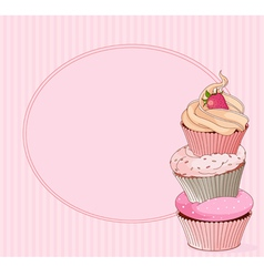 Cupcake place card vector image