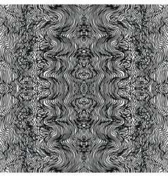 Monochrome seamless waves hand-drawn pattern vector image