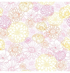 Wedding bouquet flowers seamless pattern vector image vector image