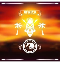 African ethnic background on evening savanna vector image