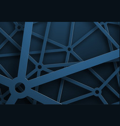 design background with a cobweb of blue lines vector image