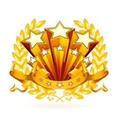 Laurel emblem vector image vector image