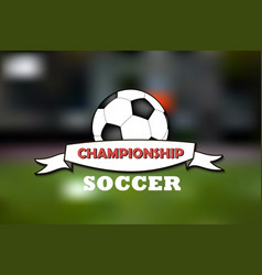 logo soccer championship vector image vector image