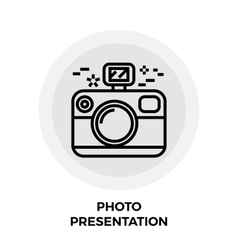 Photo Presentation Line Icon vector image