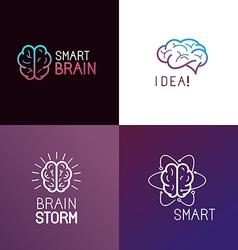set of logo design elements vector image