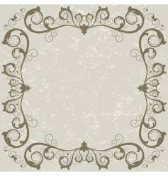 vintage grunge grey frame vector image vector image