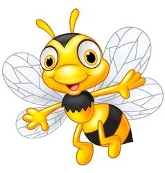 Cartoon cute bees vector image vector image
