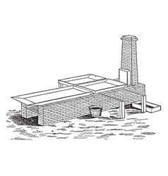 intermittent evaporation process vintage vector image