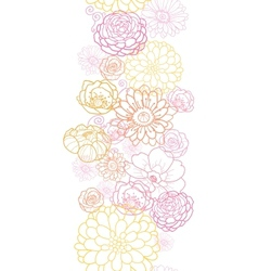 Wedding bouquet flowers vertical seamless pattern vector image vector image