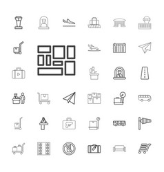 33 airport icons vector