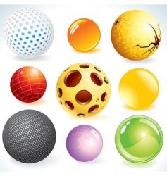 3d balls vector image