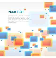 Abstract cube background vector image