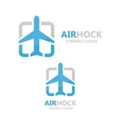 airplane logo design vector image