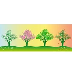 annual seasons vector image