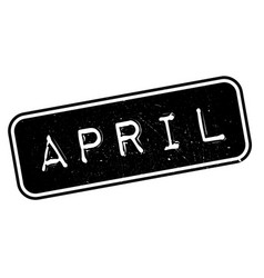April rubber stamp vector