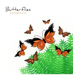 Background with bright butterflies vector image