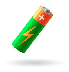 Battery realistic isolated vector image