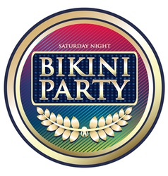 Bikini Party Exotic Label vector image