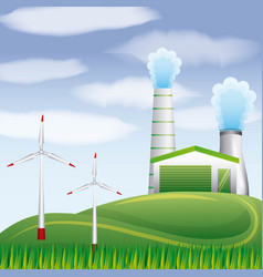 biofuel ecology alternative vector image