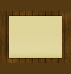 blank sheet of paper on a wooden table vector image