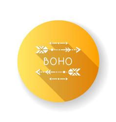 Boho aesthetic arrows flat design long shadow vector