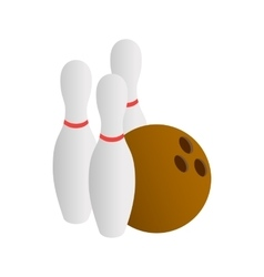 Bowling icon isometric 3d style vector image