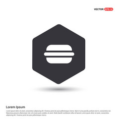 burger icon hexa white background icon template vector image
