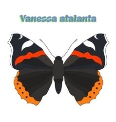 Butterfly vanessa atalanta vector