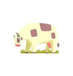 Chubby Cow Toy Farm Animal Cute Sticker vector